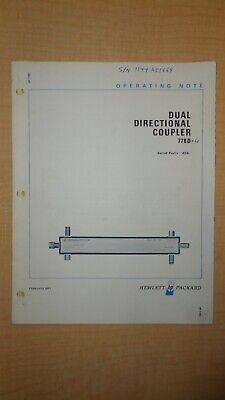 Hp Dual Directional Coupler 778d Manual 6f B2