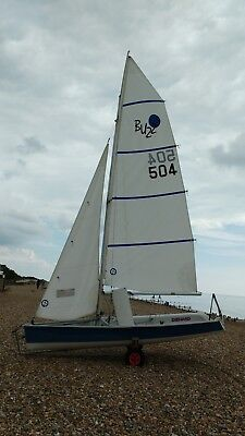 Buzz Sailing Dinghy including road trailer & launching trolley, sails and foils