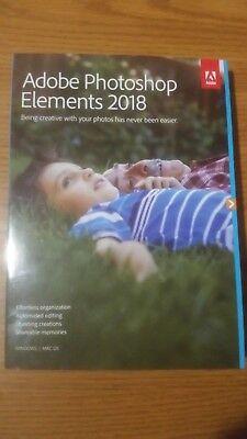 Adobe Photoshop Elements 2018 Brand New