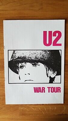 U2 War Tour Programme 1983 with Ticket for sale  Shipping to United States