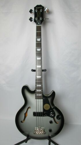 "Epiphone Jack Casady Limited Edition Bass Guitar Silverburst OHSC 34"" Near mint!"
