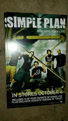 SIMPLE-PLAN-MTV-HARD-ROCK-LIVE-1 POSTER-2 SIDED-11X17IN.-NMINT