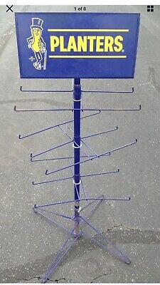 Vintage MR. PEANUT PLANTERS PEANUTS STEEL DISPLAY STAND STORE RACK FIXTURE