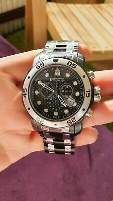 Invicta mens watch pro diver Carbon Fibre face