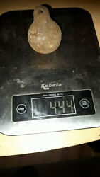 Antique or vintage cast iron wall clock weight - spares parts 444 gramms