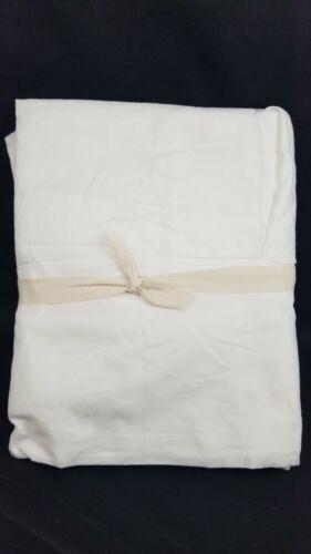 Pottery Barn Belgian Flax Linen Mini Crib Skirt White #4141