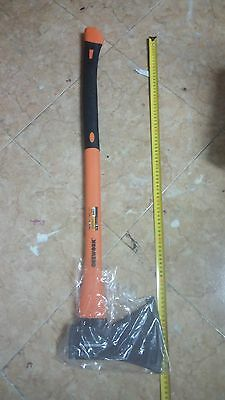 hacha Orework 2000 gr, con mango de fibra naranja