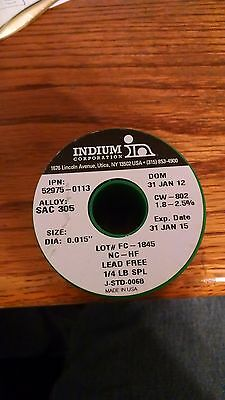 Indium 52975-0113 Cw-802 .015 No Clean Lead Free Solder