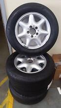 4 x Mercedes Wheels, W203 Style Continental tyres. Good Condition Scarborough Redcliffe Area Preview