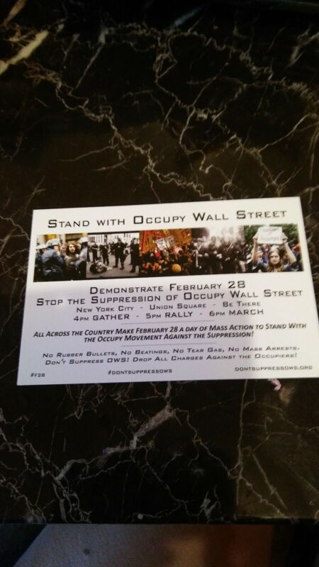 Occupy Wall Street Protest Flyer 2012