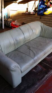 Solid leather sofa  Balga Stirling Area Preview