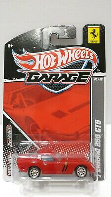 Hot Wheels Garage Ferrari 250 GTO Red Real Riders 1:64 Scale Diecast Model Car