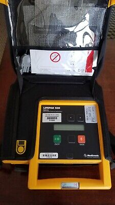 Medtronic Lifepak 500 Biphasic Aed W Carry Case Patient Ready
