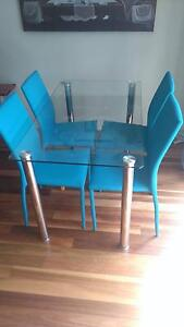 Clear Glass Top 6 Seat Dining Table Gladesville Ryde Area Preview