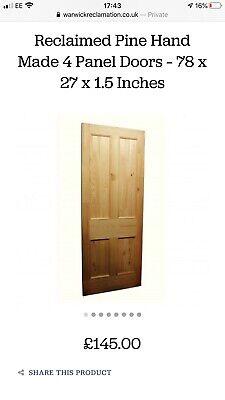 3x Reclaimed Timber 4 Panel Door