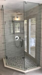 CUSTOM SHOWER GLASS DOORS ENCLOSURES MIRRORS OFFICE partitions