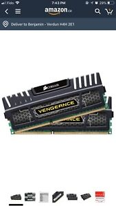 Corsair vengeance 1600mhz 16gb (2x8) DDR3 cl10