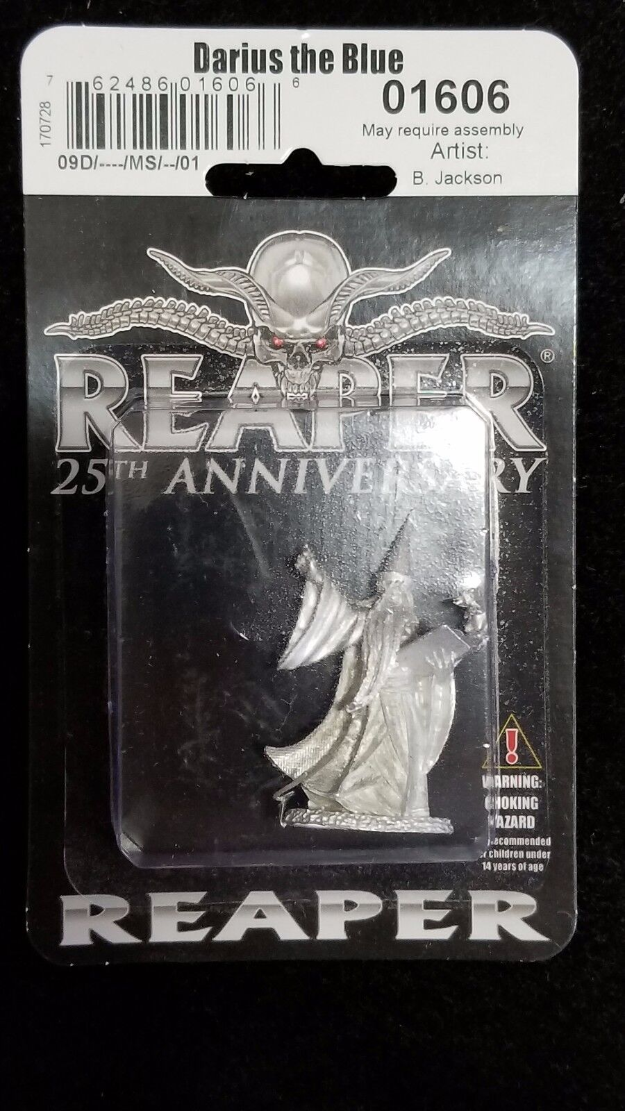 darius the blue wizard from reaper miniatures rm 02578 miniset