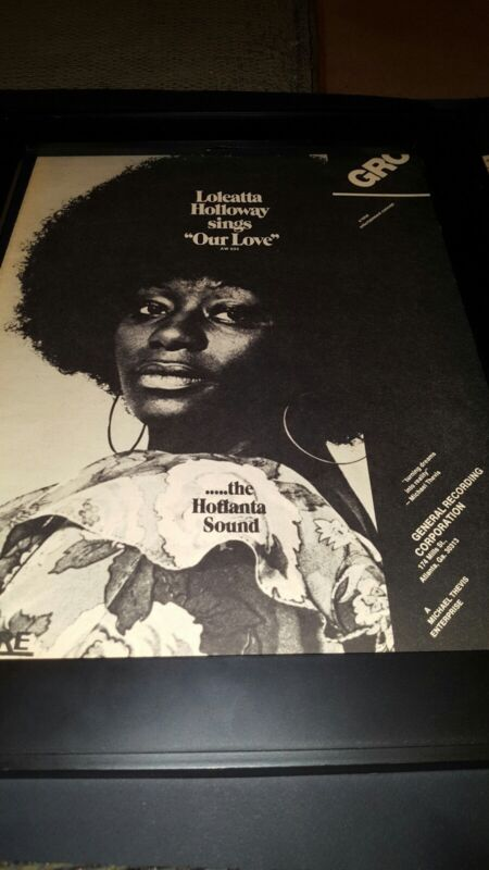 Loleatta Holloway Our Love Rare Original Promo Poster Ad Framed!