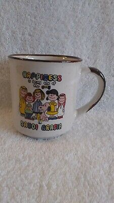 Vintage Advertising Peanuts Snoopy Happiness In Saudi Arabia Coffee Mug