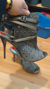 Open toe heel boots BRAND NEW size 10