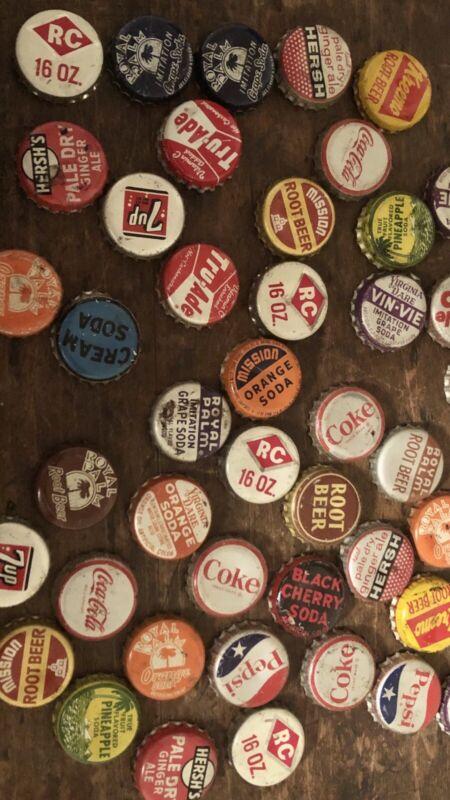 Vintage Soda Bottle Caps & Bottle Cap Collection Soda Pop Advertising Large Lot