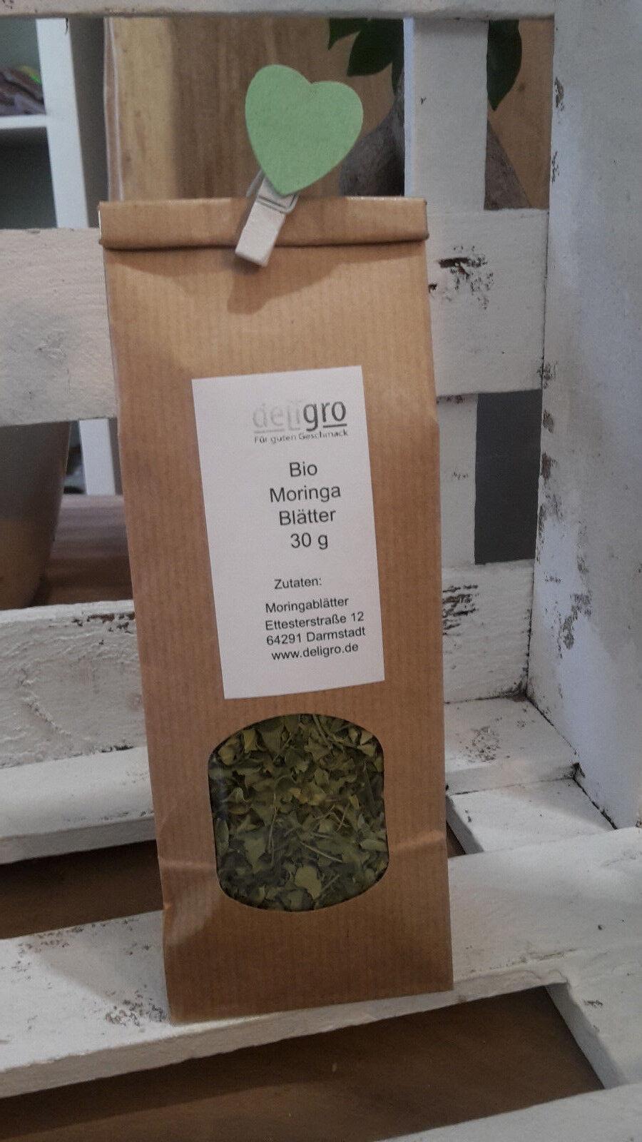 Bio-Moringa Tee 30g 6,00 Eur ( 100g 20,00 Eur )