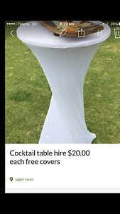 Cocktail table hire $20.00 each free covers Upper Swan Swan Area Preview