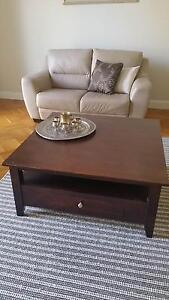 Solid wood, 2 draw coffee table Brighton East Bayside Area Preview