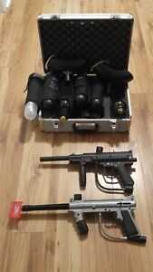 2 paintball markers & accessories