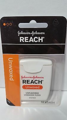 - Reach Floss Unflavored Unwaxed Johnson & Johnson 1 Pack  55 yd Dental Floss