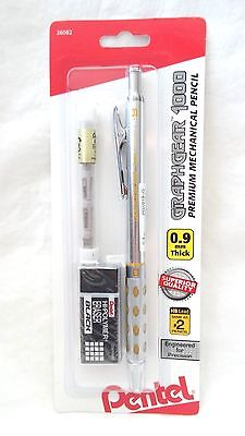 Pentel Graphgear 1000 0.9mm Premium Mechanical Pencil Erasers New