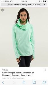 Lululemon happy heart pullover size 8
