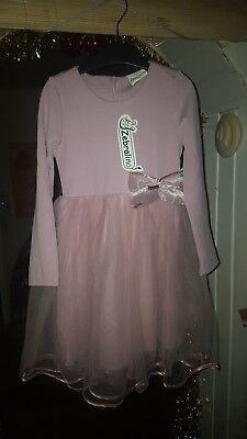 Schöne Mädchen Kleid Zebralino    Gr. 110  Ab 5 auktionen portofrei    ()