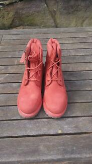 Salmon Timberlands - Womans AUS size 9 Gladesville Ryde Area Preview