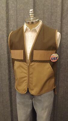 NEW Vtg Ideal Brown Upland Game/Bird Hunting Vest 2053 sz Med USA made