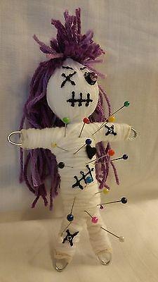 Karma Keepers® Authentic Voodoo Doll Purple Bead Eye New Orleans 7 pins & -