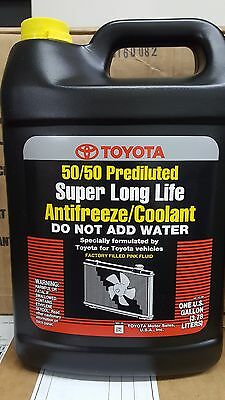 1 Gallon Toyota-Lexus-Scion Super Long Life Pink Antifreeze Coolant - OEM NEW!