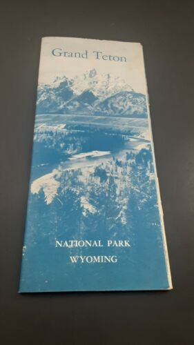 Grand Teton National Park Brochure, pub. 1962,  w/ map of park & other sites.