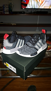 Adidas NMD_R1 glitch camo black core us10 limited edition Mermaid Beach Gold Coast City Preview