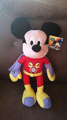 XL Mickey Mouse Maus Micky als Superheld ***NEU*** ca. 41 cm