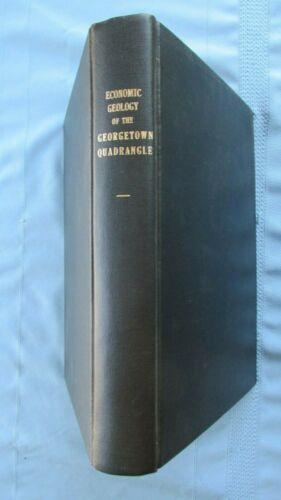1908 Georgetown Colorado Quadrangle Economic Geology Book-Maps & Photographs