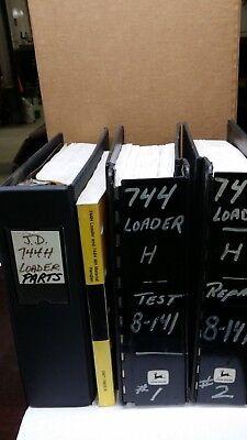 Service Manuals John Deere 744h Loaderbackhoe Plus Operators Parts Manuals