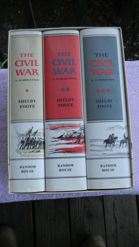 The Civil War: A Narrative by Shelby Foote Three Volumes in Slipcase