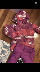 Burton snowboard jacket and snow pants size large kids
