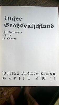 Unser Großdeutschland - Fotobuch von Landschaften und Städten -1936