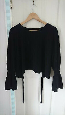 Black House of Sunny Top with Open Back Size UK Medium