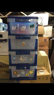 Kids drawer plastic