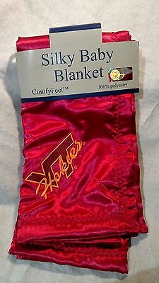 ( Virginia Tech Hokies Silky  Fabric Fleece Lined Baby Blanket New!)