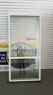 Aluminium Fixed Window 1995H x 975W (Item 4865) White DOUBLE GLAZED